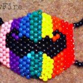 Rainbow Mustache Mask