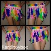 Rainbow Feather Kandi Skirt