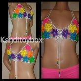 Sexy Rainbow Kandi Star Bikini