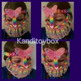 Rainbow Flower And Butterfly Full Faced Kandi Mask