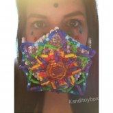 Rainbow Mandala Kandi Mask