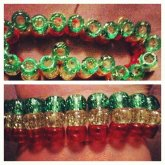 Glitter Transparent Rasta Ladder Cuff