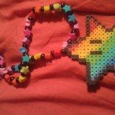 Star Power Kandi Necklace!! I <3333 It