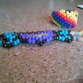 Kandi Mask And Rainbow Cuff