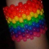 Neon Rainbow Cuff