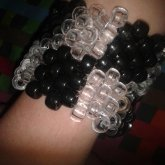 Black And Clear Checkered Cuff