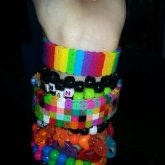 Perler Bracelet Cuffs
