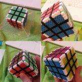 3D Perler Rubix Cube