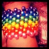 Rainbow Kandi Cuff