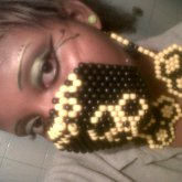 Biohazard Mask With Matching Earrings