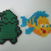 Oggie Boggie And Flounder Perler