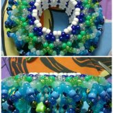 Blue And Green Slinky Cuff