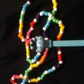 Periwinkle The Cat Pez Machine Necklace