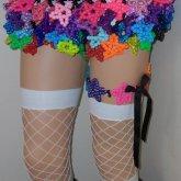 Cute Star Kandi Skirt With Star Garter