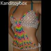 Rainbow Raver Kandi Top