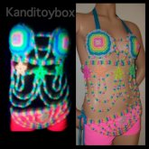 Glow In The Dark Sexy Star Kandi Outfit