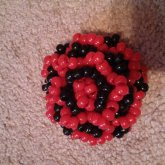 Black And Red Kandi Rose