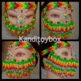 Orange Green And Yellow Kandi Mask