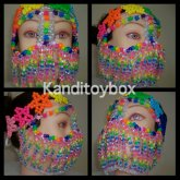 Rainbow Star Kandi Mask