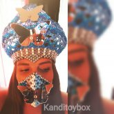 Butterfly Goddess Crown And Kandimask