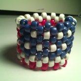 American Flag Kandi Cuff