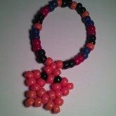 Mario Star Orange  Kandi Bracelet