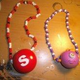 Skittles And Alien Kandi Necklace