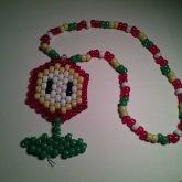 Mario Fire Flower Kandi Necklace