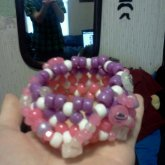 Pink And Purple Spacey 3D Cuff