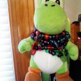 Yoshi Keychain With Monster Tab Singles
