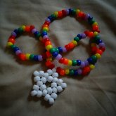 White And Rainbow Star Necklace.c:
