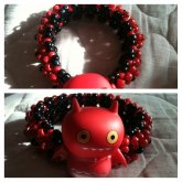 Red & Black Bat 3d Cuff (up For Trade)