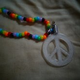 Peace Sign Necklace.