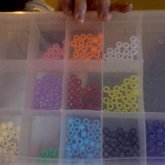 Unfinished Organized Color Beads