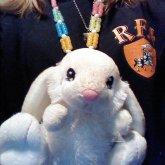 Cream Color Bunny Necklace