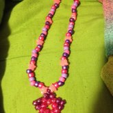 Pink/purple Star Necklace
