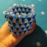 Blue, Black, Clear Cuff