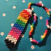 Rainbow Kandi Tie.