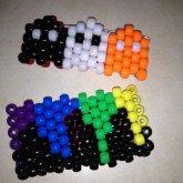 Rainbow Cuff And Pacman Ghost Cuff(: