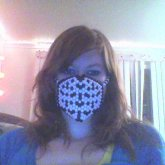 Black And White Lace Mask