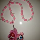 Pink & White Necklace :)