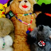 My Stuffed Animals Showing Off Their Kandi.xD