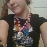 Panda Necklace And Rainbow Pacman Ghosts