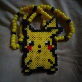Pikachu Perler Necklace