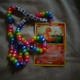 Charmander Pokemon Card Necklace.