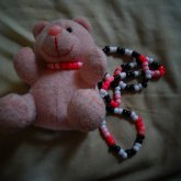 Pink Bear Necklace.