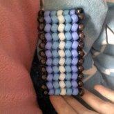 Shades Of Blue Herringbone Cuff