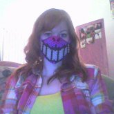 Cheshire Cat Mask With Glow In The Dark Teeth