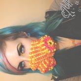 Kandi Orange & Yellow Gas Mask