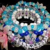 EDC Themed 3D Cage Kandi Cuff With Daisies